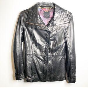 Ted Baker Soft Leather Asymmetrical Zip Jacket 1